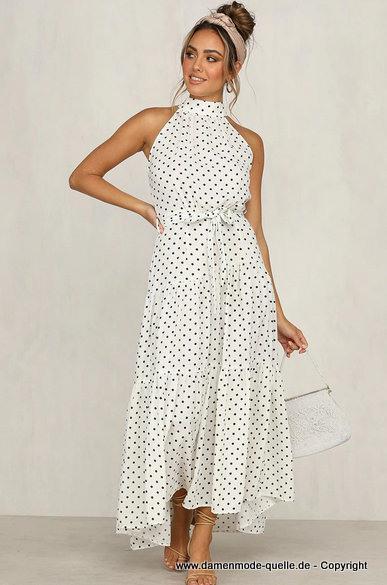 Kleider 2021  Boho Maxi Sommerkleid 2020 Lang In Weis Mit