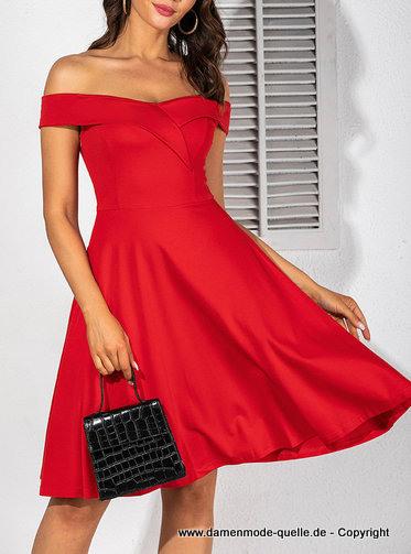 Kleider 2021  Elegantes Schulterfreies Minikleid 2020 In