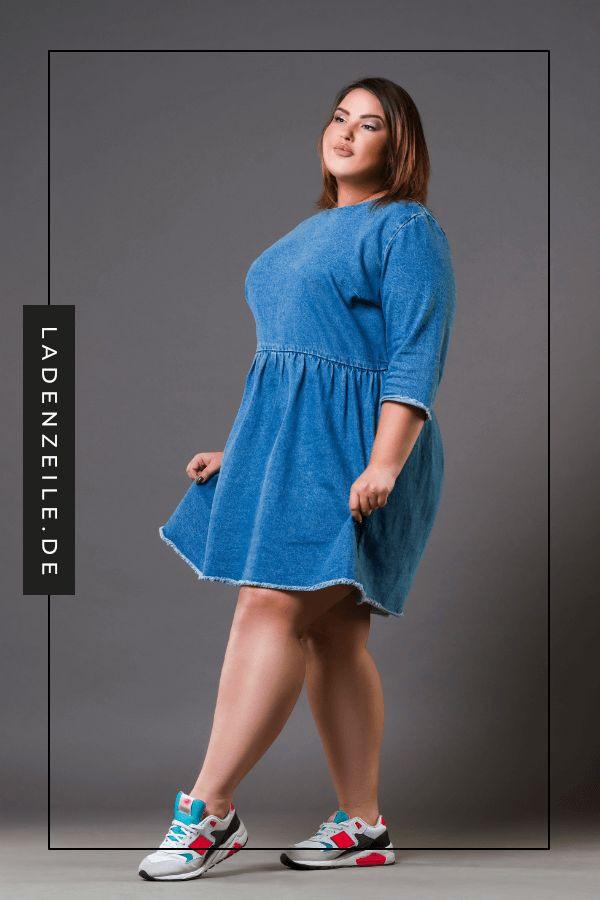 Kleider Aus Denim Große Größen  Jeans Kleid Mode Große