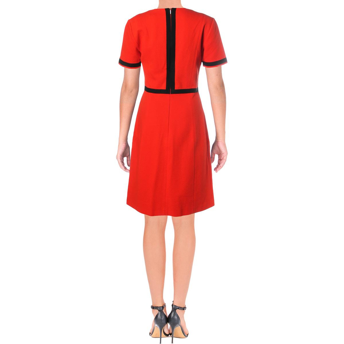 Kleider Boss Hugo Boss Womens Hadesa Navy Colorblock Wear
