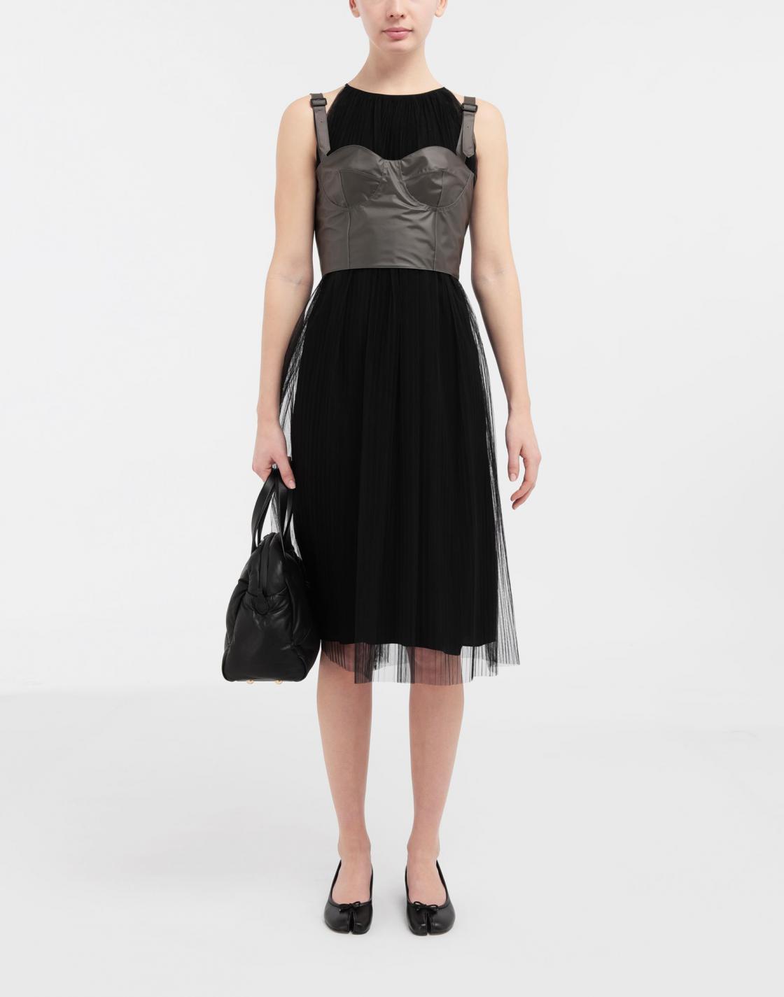 Kleider  Damen Maison Margiela Midikleid Aus Mehrlagigem