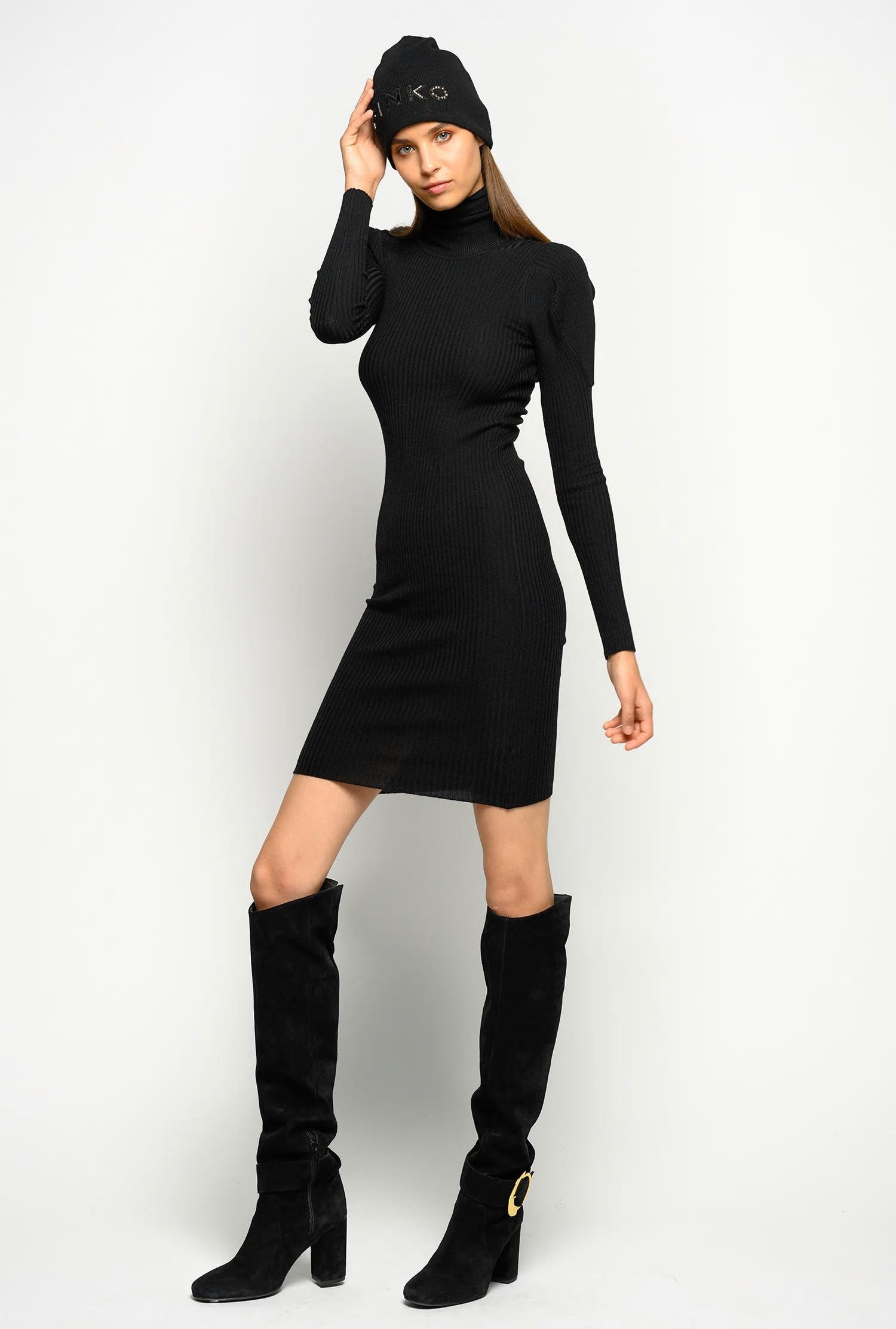 Kleider  Damen Pinko Geripptes Kleid Mit Anliegendem