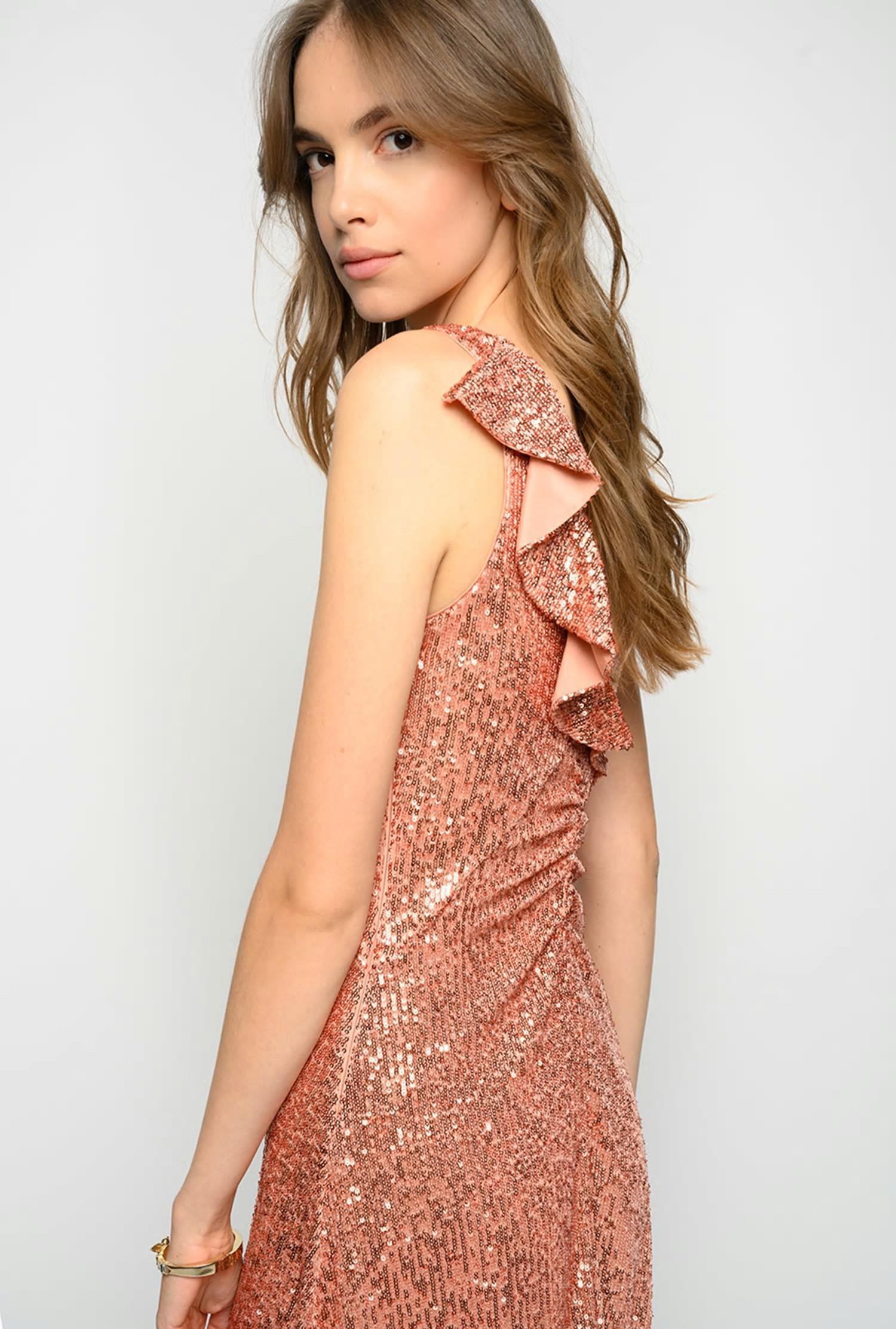 Kleider  Damen Pinko Paillettenkleid Mit Volant P96