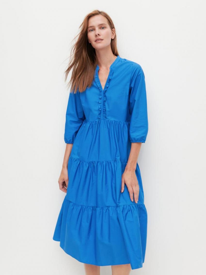 Kleider  Jumpsuits  Damen Kleid Blau  Reserved Damen
