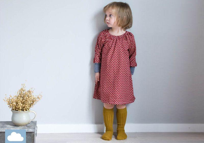 """Kleider  Kleid """"Edda"""" Langarm Lange Bündchen  Ein"""