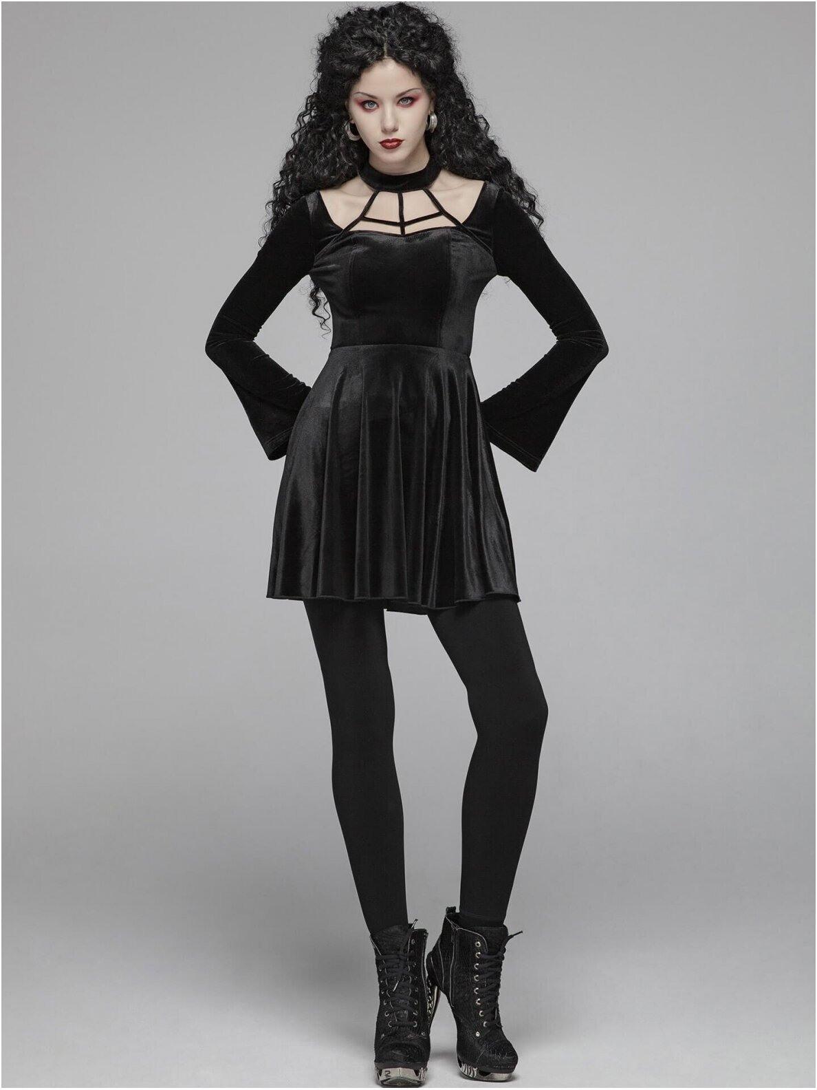 Kleider  Kurz  Gothickleidung  Damen  Gothic Kleidung