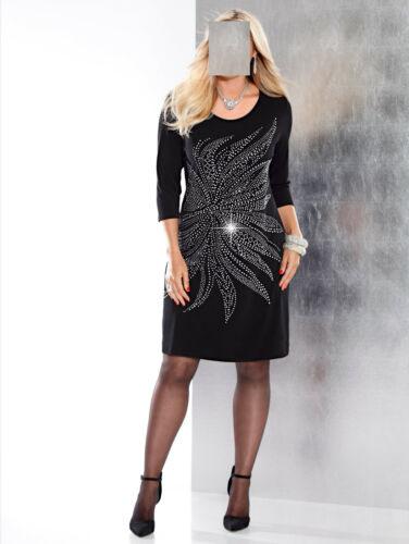 Kleider Marken Kleid Schwarzsilber Gr 48 0917365070 Gr 46