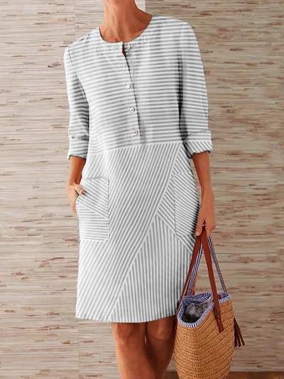 Kleider  Seite 2  Modetalente  Crewneck Dress Linen