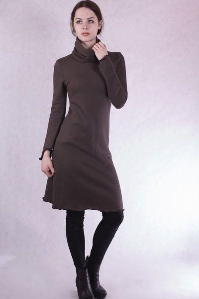 Kleider  Winterkleidwarmeskleid Mit Ext Loopschal  Ein