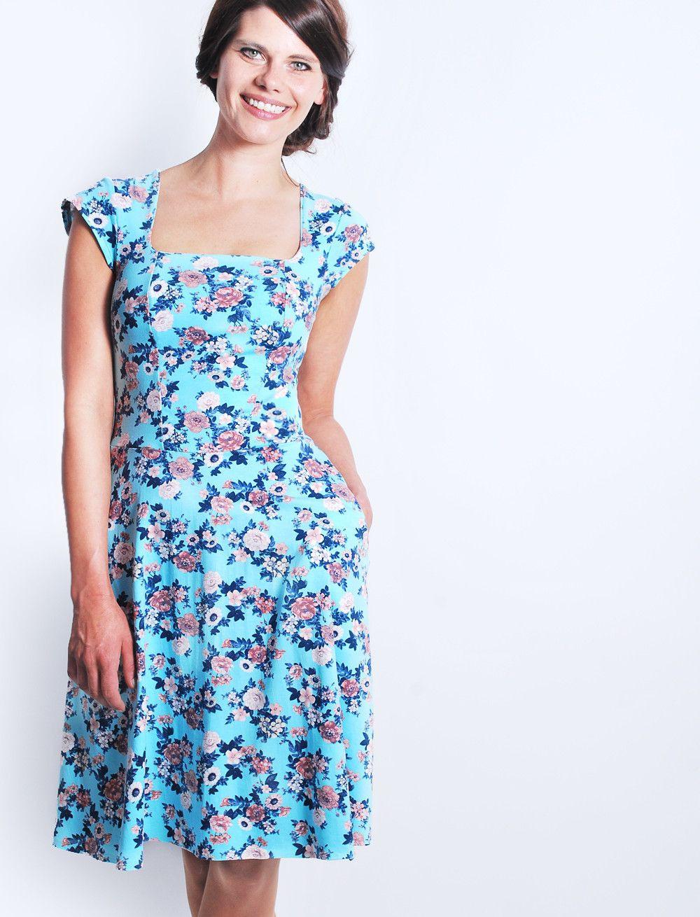 Knielange Kleider  Femkit Blumenkleid Jahne  Ein