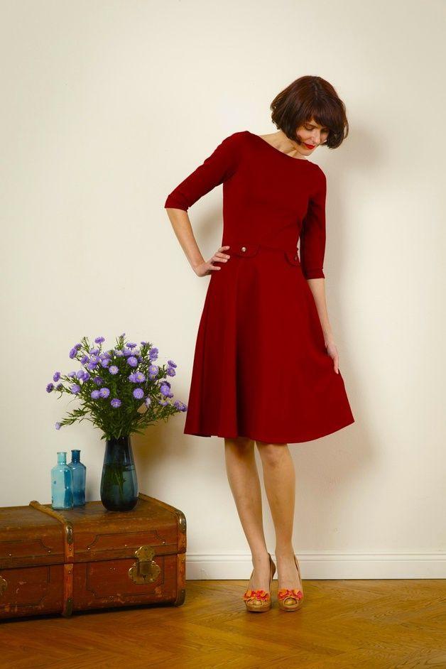 "Knielange Kleider  Kleid ""Elisa"" Mit Tellerrock  In"