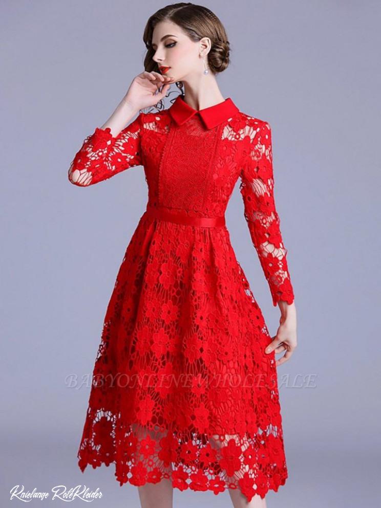 Knielange Rote Kleider  Abendkleider