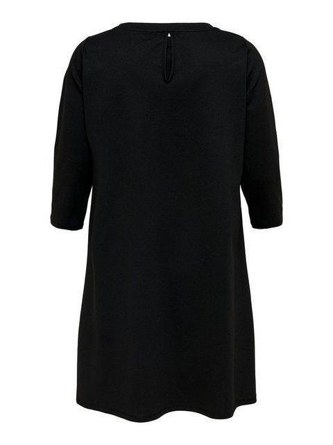 Knielanges Curvy Kleid  Schwarzes Kleid Knielang