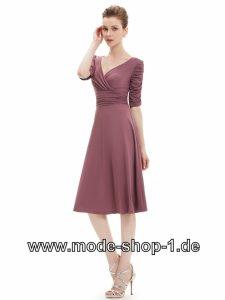 Knielanges Flieder Abendkleid Elegant Und Festlich Kleid