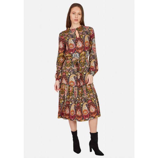 Knielanges Kleid Mit Paisleymuster  Nicelodamenmode