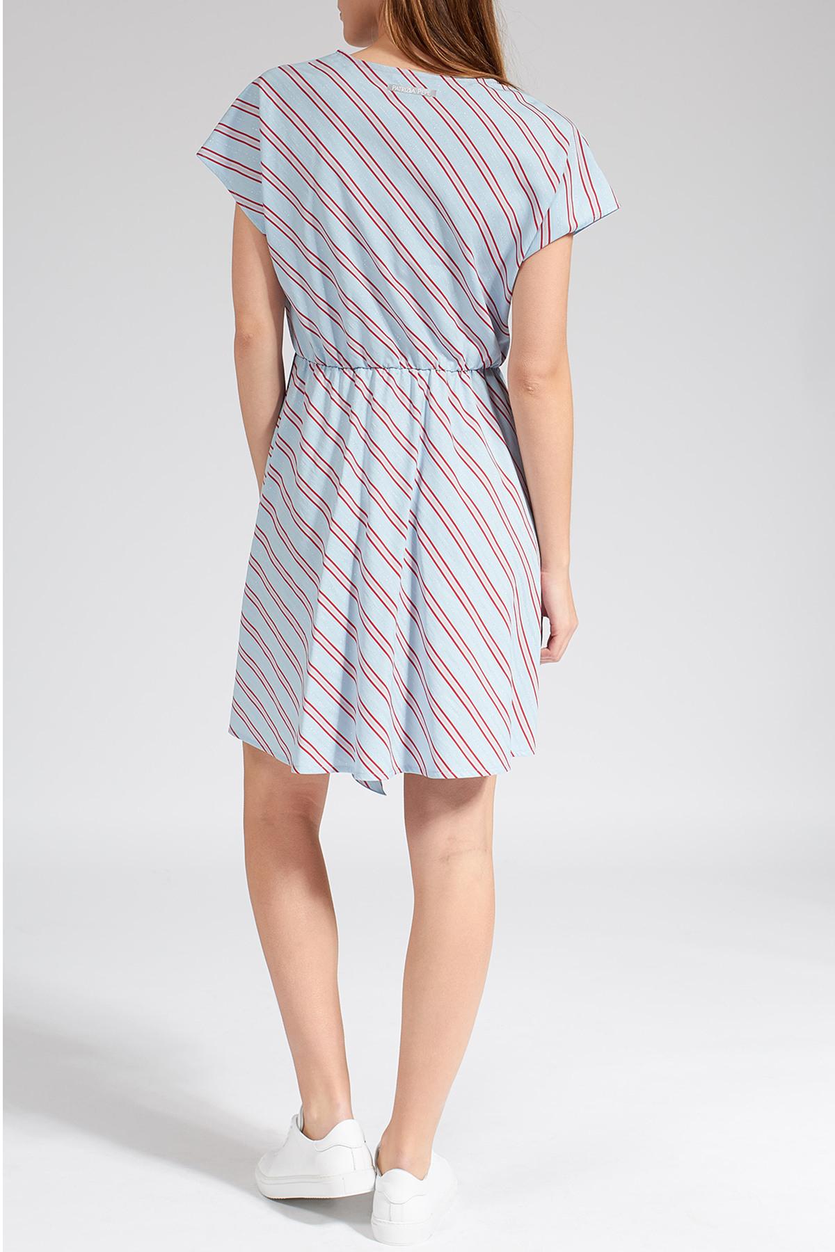 Knielanges Kleid Mit Streifenmuster  Patrizia Pepe