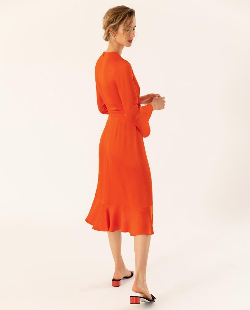 Knielanges Kleid Mit Volants Mit Bildern  Kleid Mit