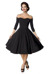 Knielanges Kleid Swingkleid Dreiviertel Ärmel