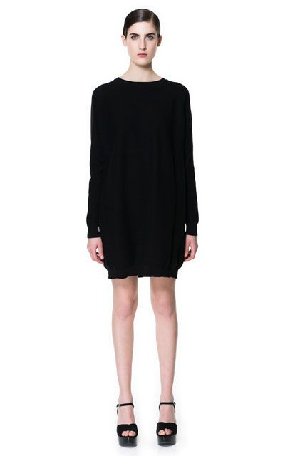 Knitted Dress With Seams  Dresses  Woman  Zara United