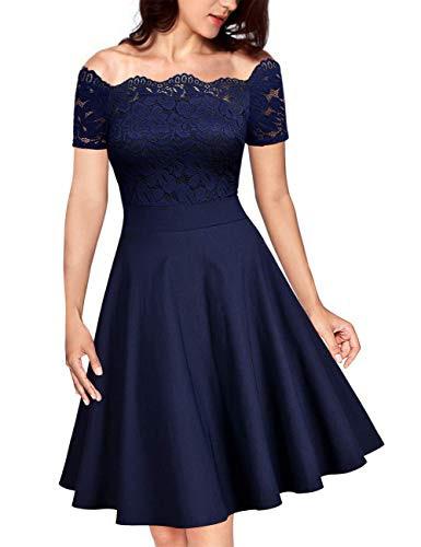 Kojooin Damen 1950Er Vintage Brautjungfernkleider Für