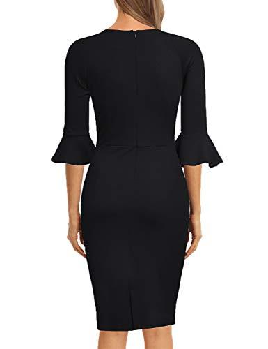 Kojooin Damen Etuikleid Business Kleider Bodycon