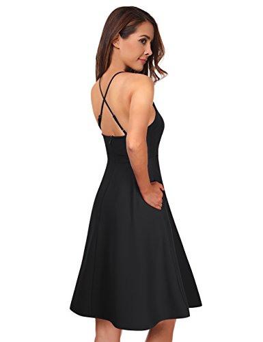 Kojooin Damen Trägerkleid  Festliches Kleid Cocktailkleid