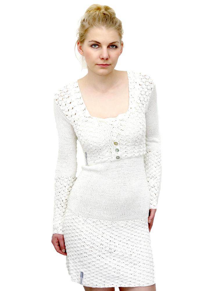 Kompletter Look Aus Seide Bolero Und Kleid Weiß Mimis Casuals