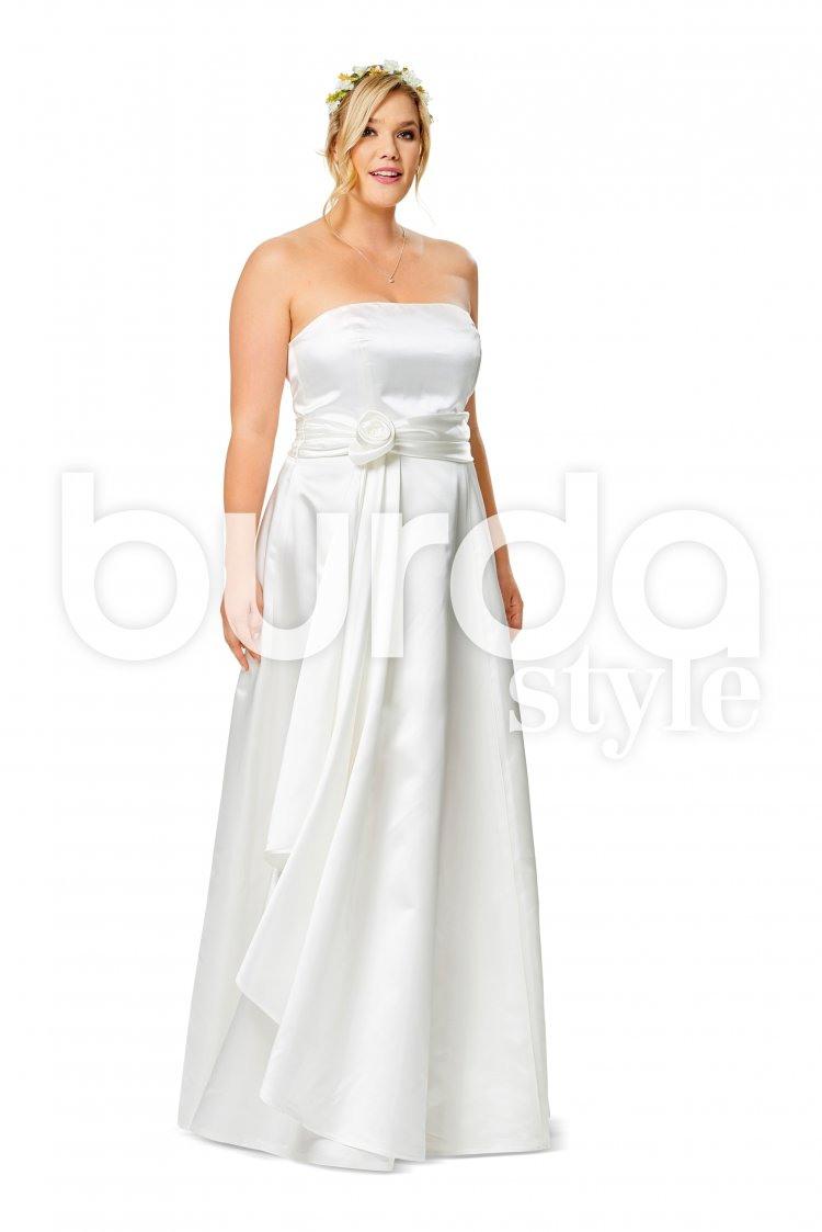 Korsagenkleid  Trägerkleid  Brautkleid  Weiter Rock