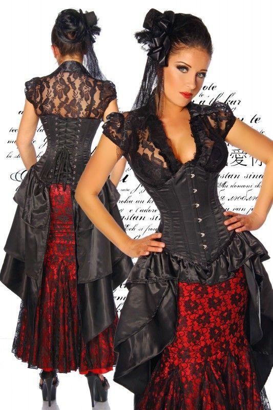 Korsettkleid Schwarz  Kleider Mode Und Damen Mode
