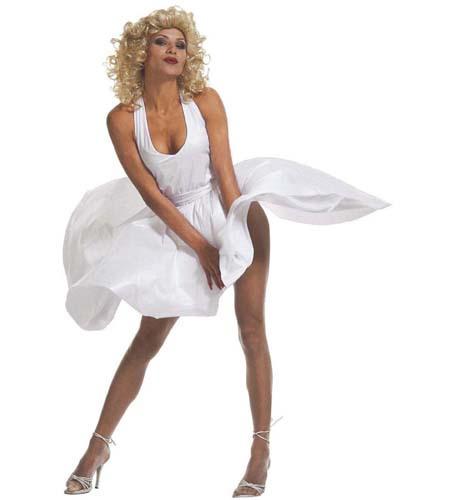 Kostüm 50Er Jahre Marilyn Monroe Kleid Weisswi 3502