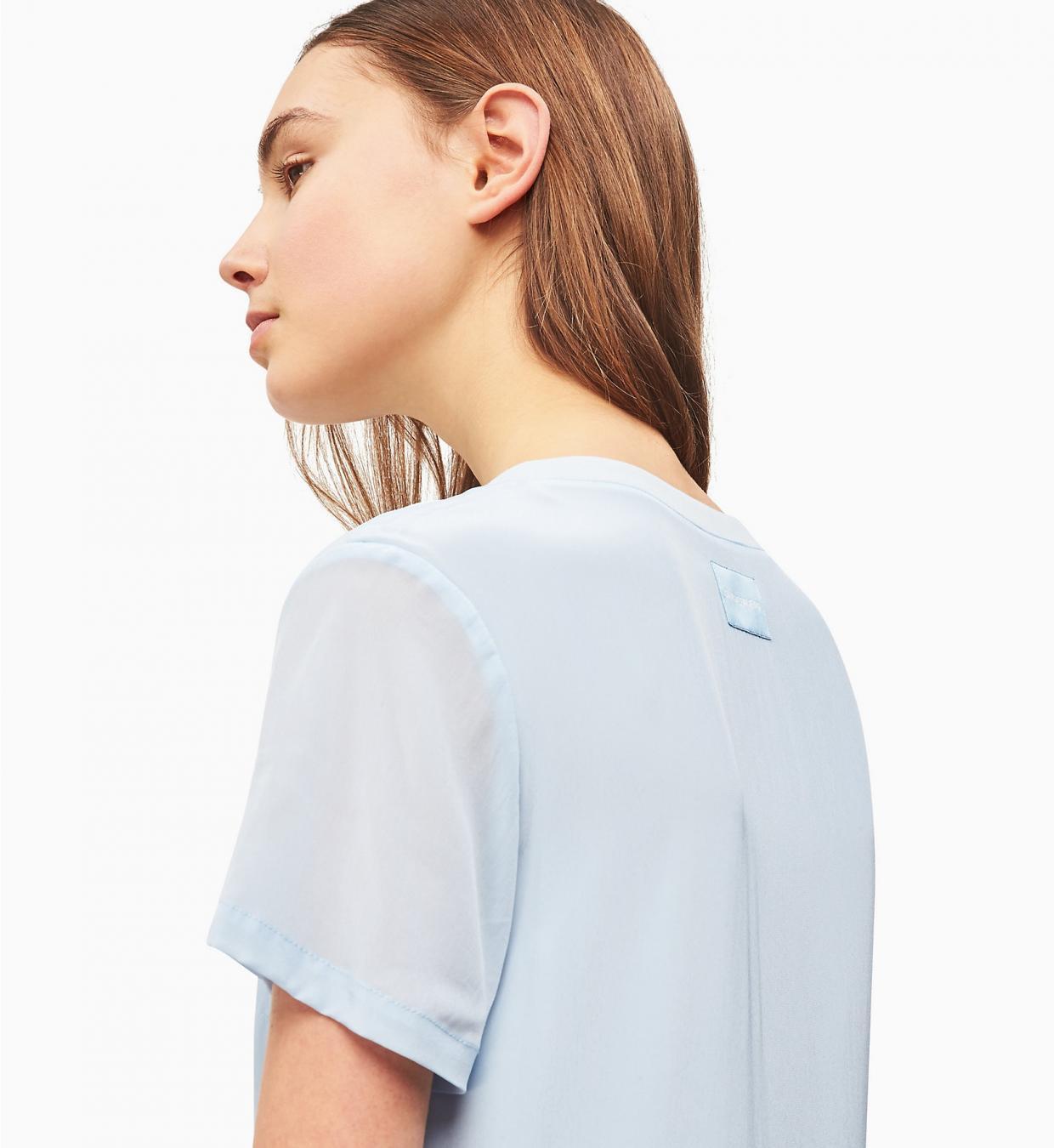 Krepptshirtkleid Blue  Calvin Klein Damen Kleider
