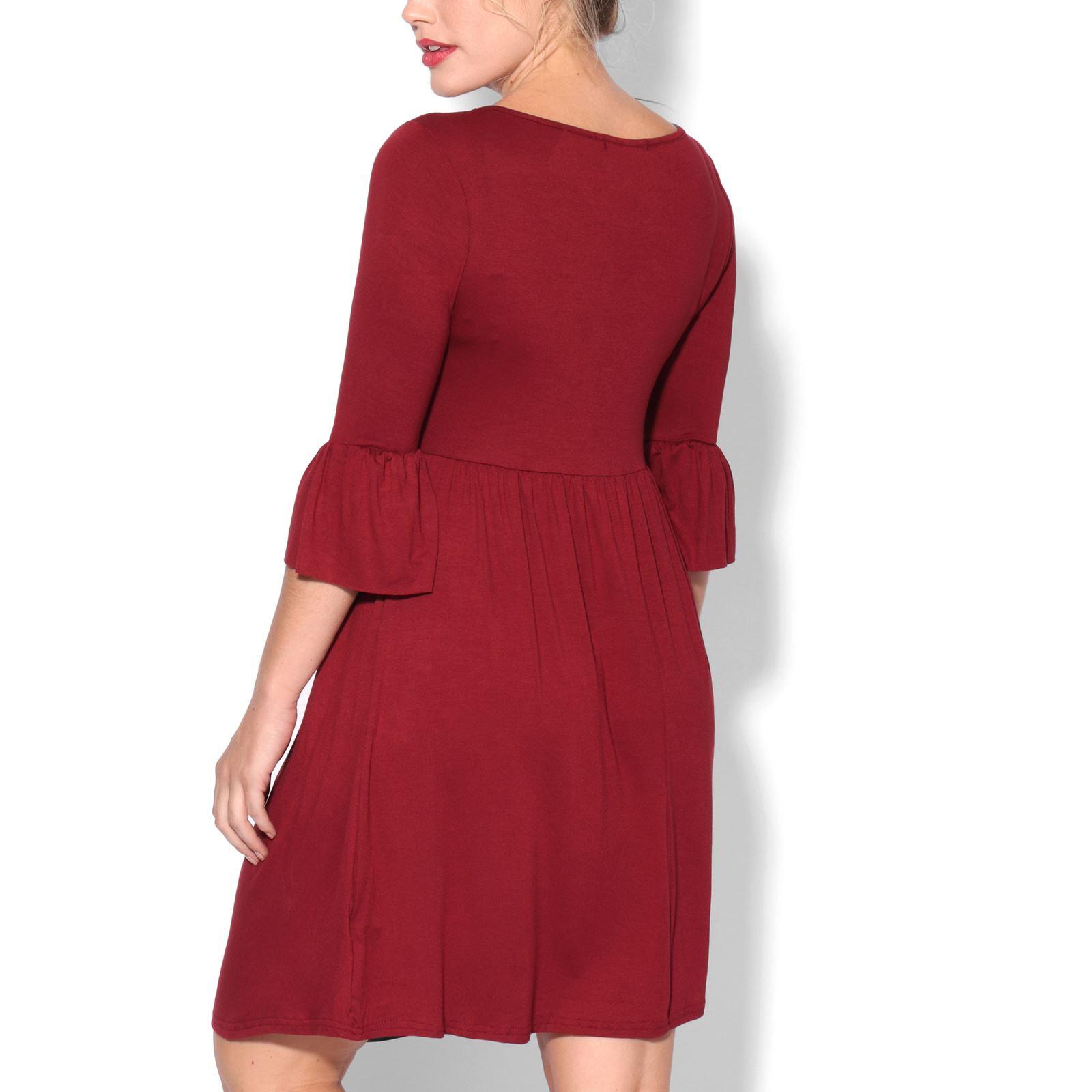 Krisp Umstandsmode Kurzarm Shirtkleid Midi Kleid Tunika