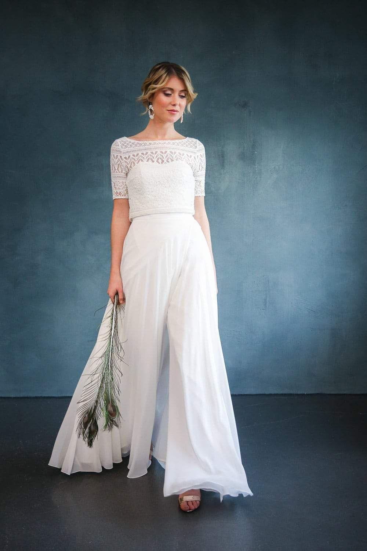 Kurze Braut Corsage Für Zweiteiliges Brautkleid  Lillith