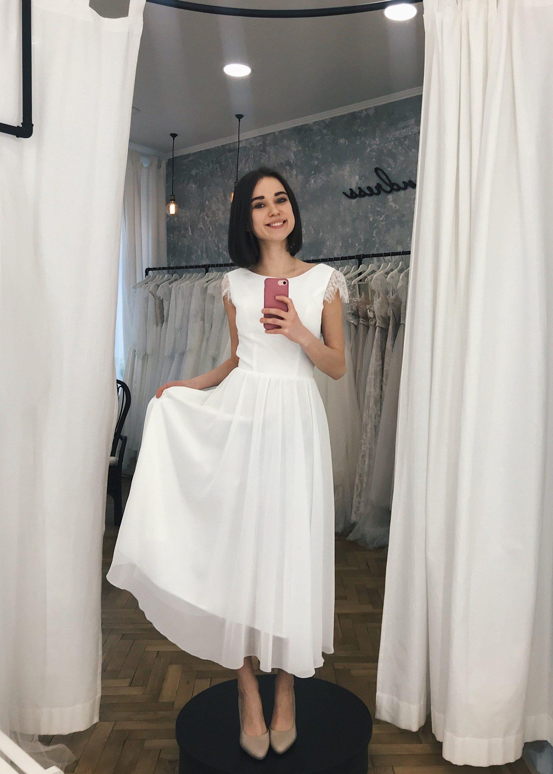 Kurze Hochzeitskleid Chiffon Brautkleid Hochzeitskleid