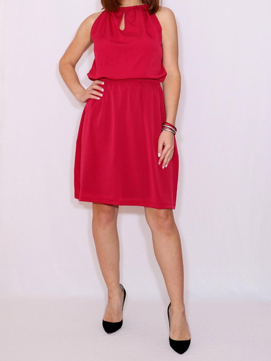 Kurze Wein Rot Chiffon Kleid Bordeaux Brautjungfer Kleid