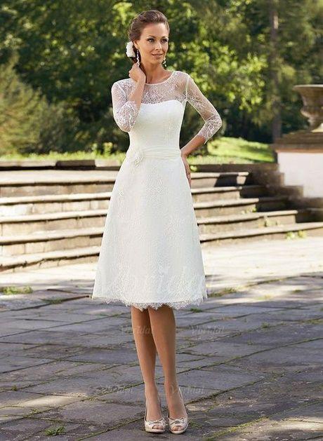 Kurze Weiße Kleider Standesamt  Brautkleid Knielang