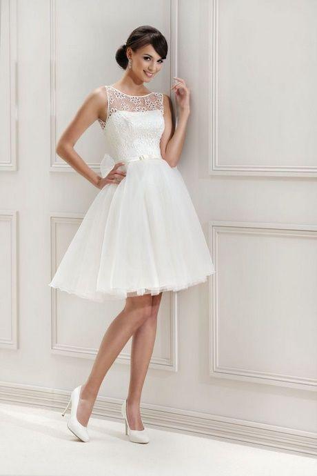 Kurze Weiße Kleider Standesamt  Brautkleid Kurz Weiße