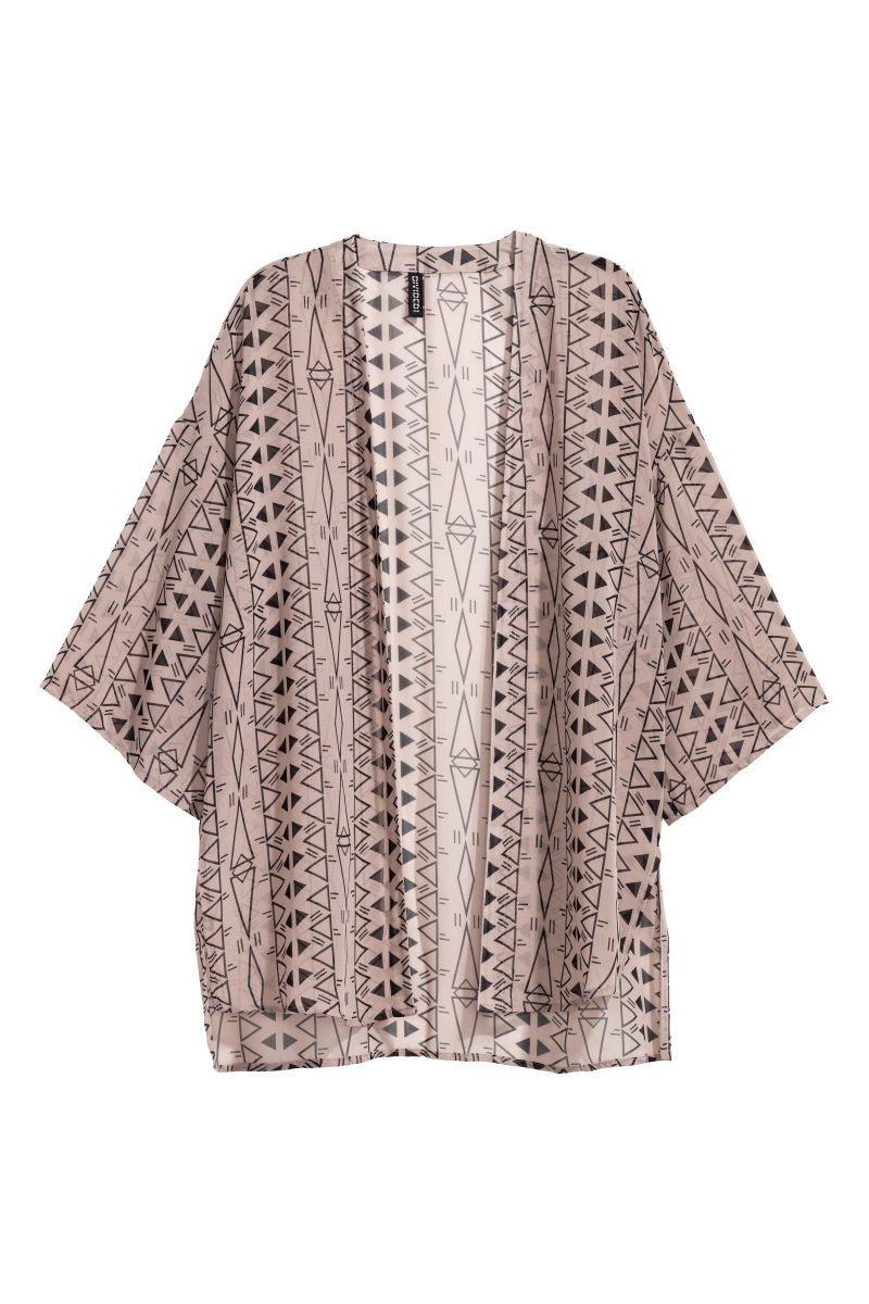 Kurzer Kimono  Taupe/Gemustert  Damen  Hm De