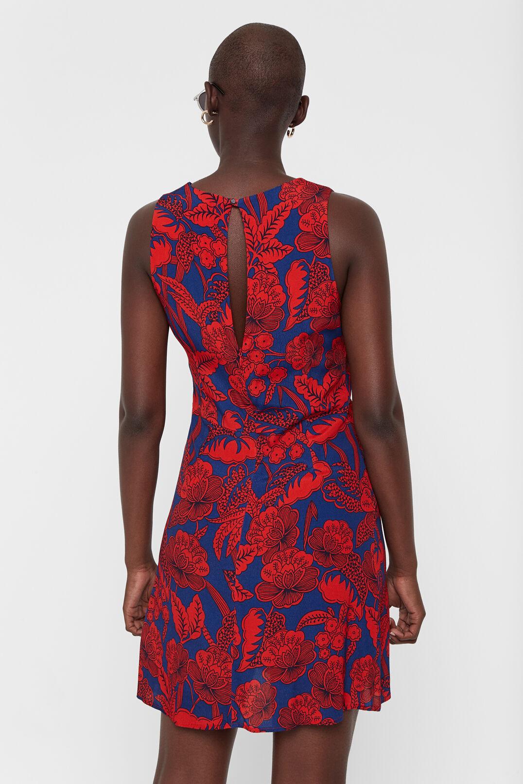 Kurzes Kleid Mit Blumenmuster Rot | Desigual Damen Kleider