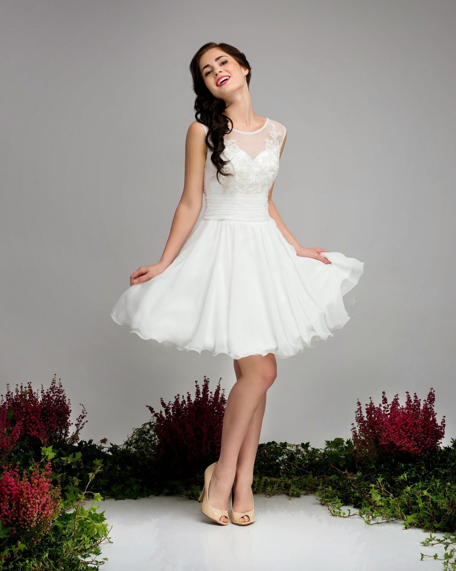 Kurzes Standesamtkleid Calla Standesamt Kleid Kurz