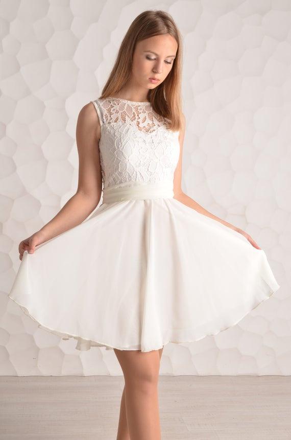Kurzes Weisses Kleid 527Dcc