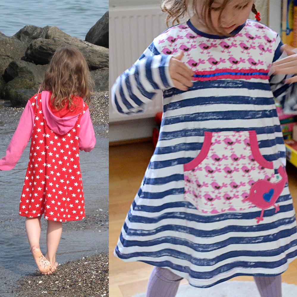 Kuschelkleid Mädchenkleid • Gr 74  122 • Nähebook