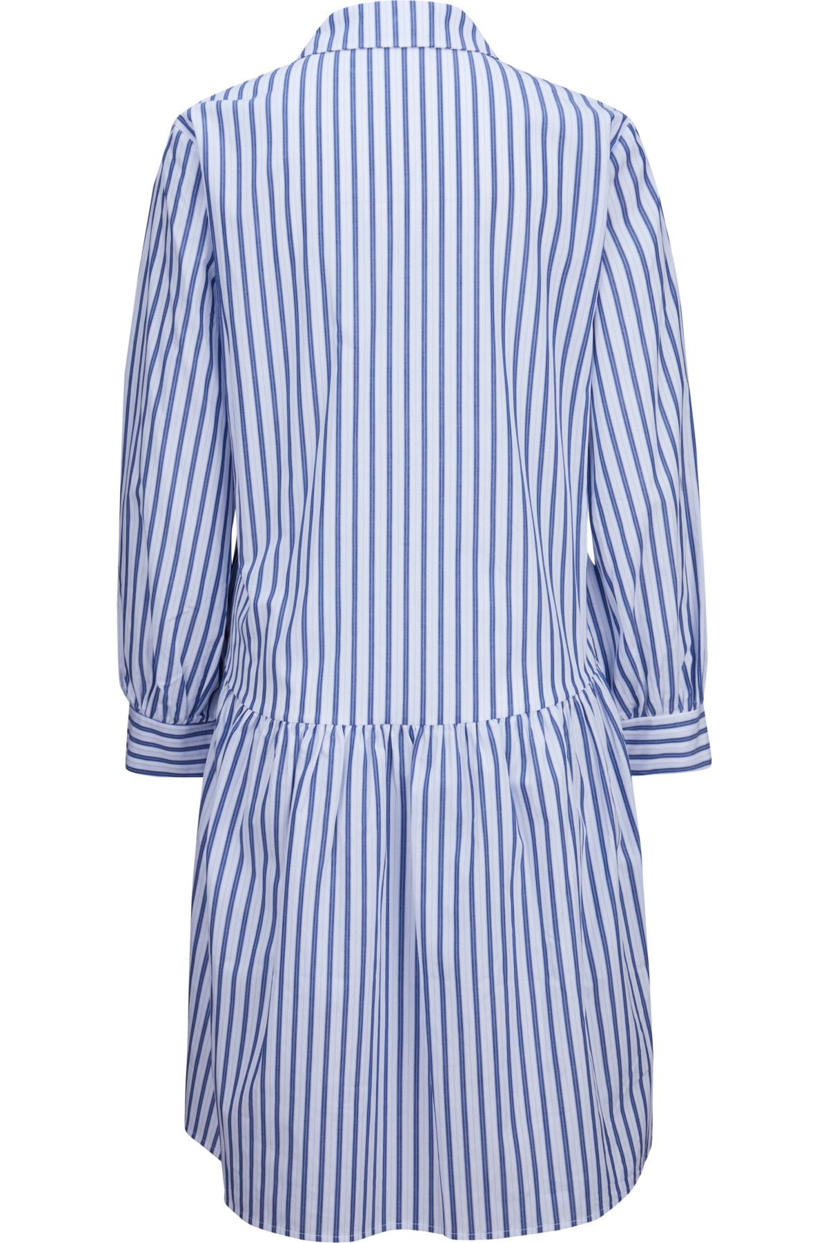 La Fee Maraboutee Hemdblusenkleid In Blauweiß Gestreift