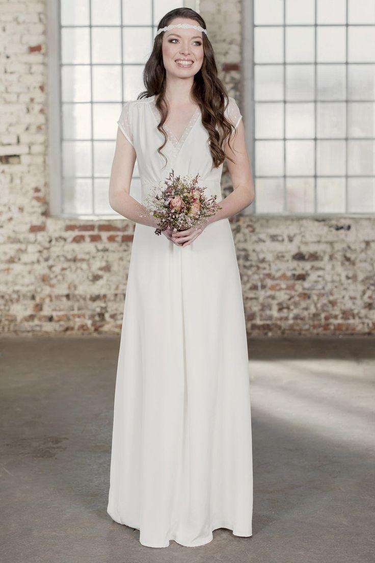 Labude  Brautkleid Claire Vintage Style Boho Seide