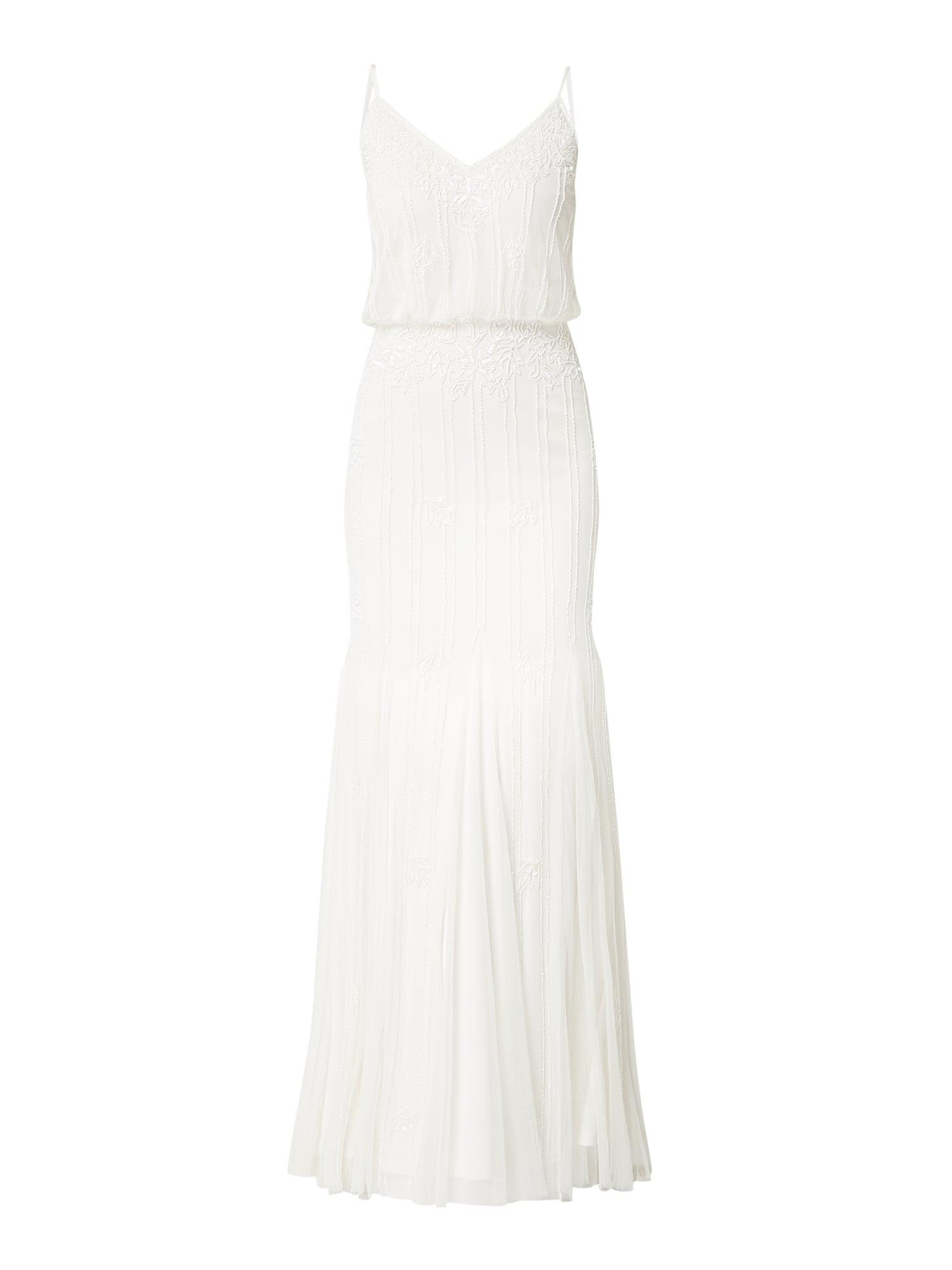Lace  Beads Abendkleid Aus Mesh In Weiß Online Kaufen