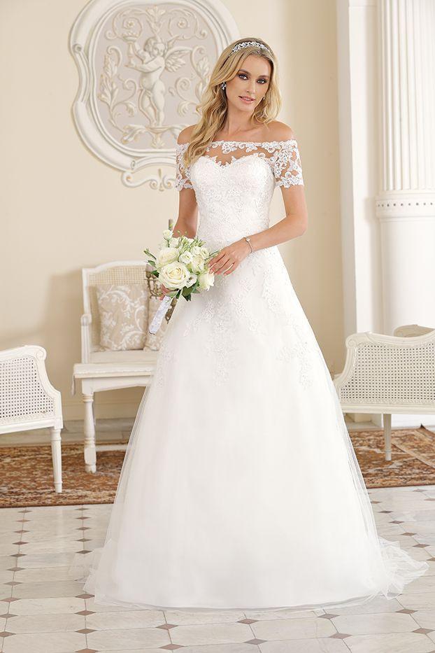 Ladybird Klassisches Brautkleid Carmenausschnitt