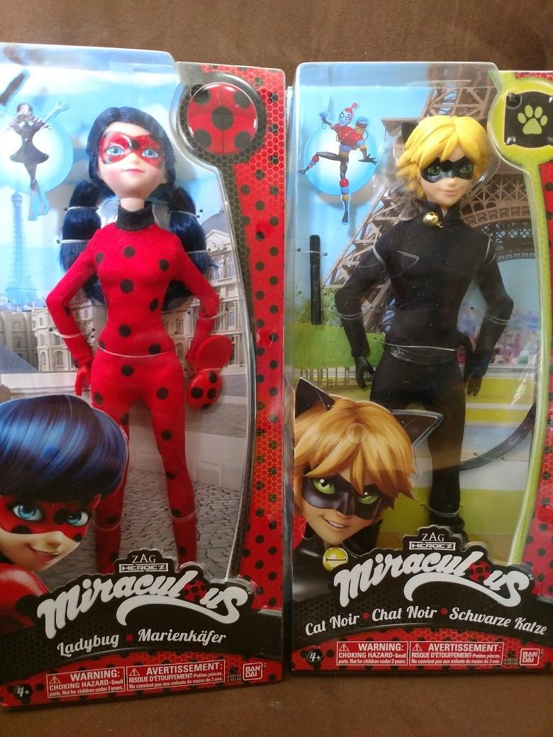 Ladybug Y Cat Noir Miraculous Bandai Tamaño Barbie Nuevos