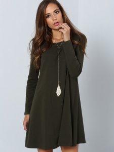 Langarm Kleid Grün