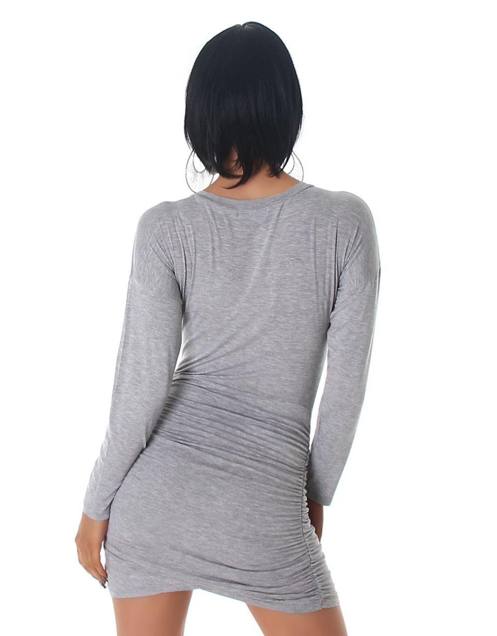 Langarm Longtop Minikleid Mit Wickeleffekt  Ebay