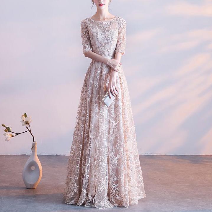 Lange Abendkleid Frauen Elegant Sexy Lace Alinie Formale